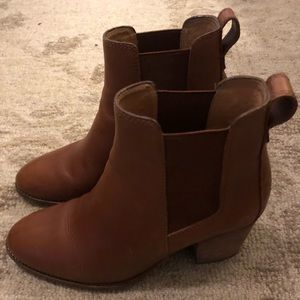 Madewell, Reagan Brown leather booties